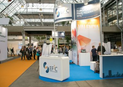 Empty EFIC booth at Pain in Europe X