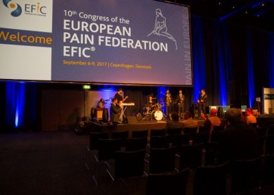 Live band playing at Pain in Europe X