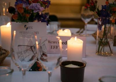 Close shot of a table at the President's dinner, Pain in Europe X
