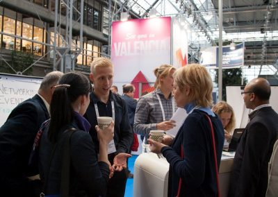 Delgates visiting a booth at Pain in Europe X